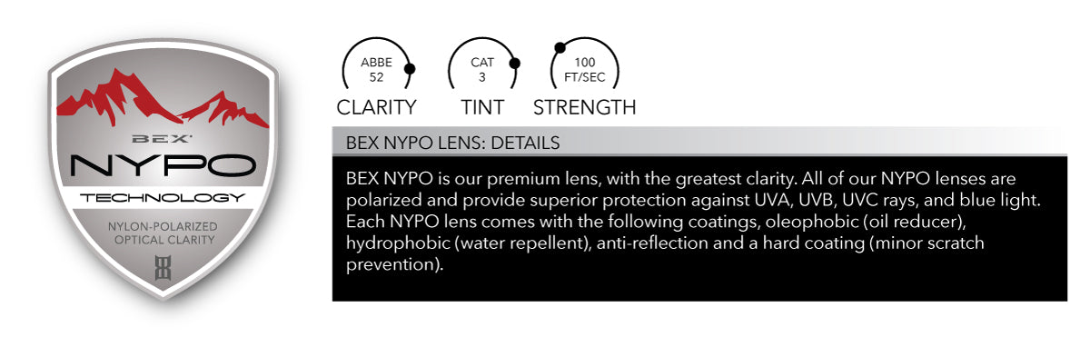 BEX NYPO offers the best clarity out of all of our lens options.