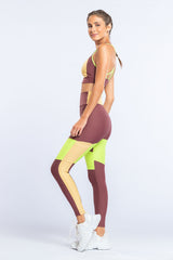 Block Color Square Legging