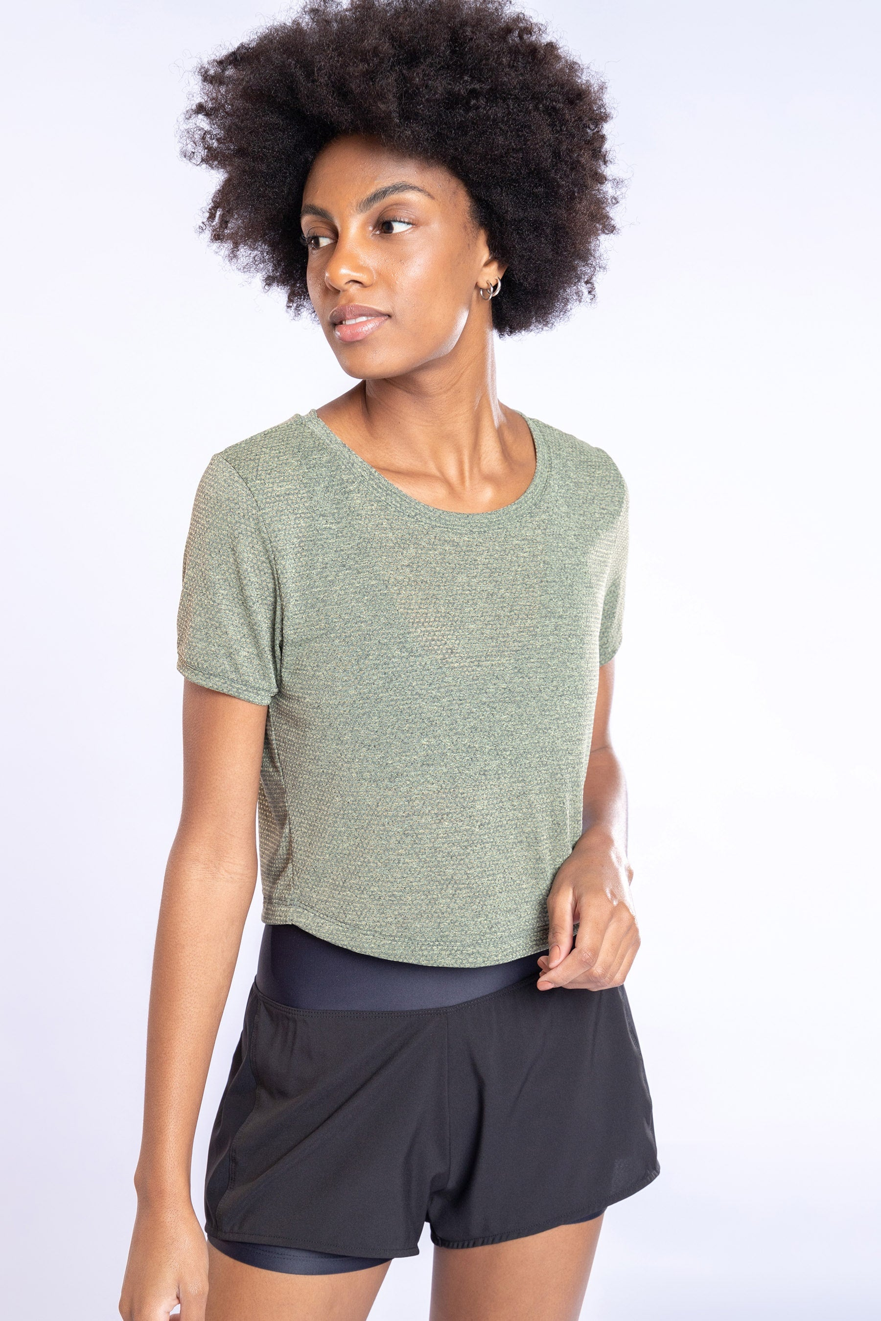Air Tank Cropped Blouse