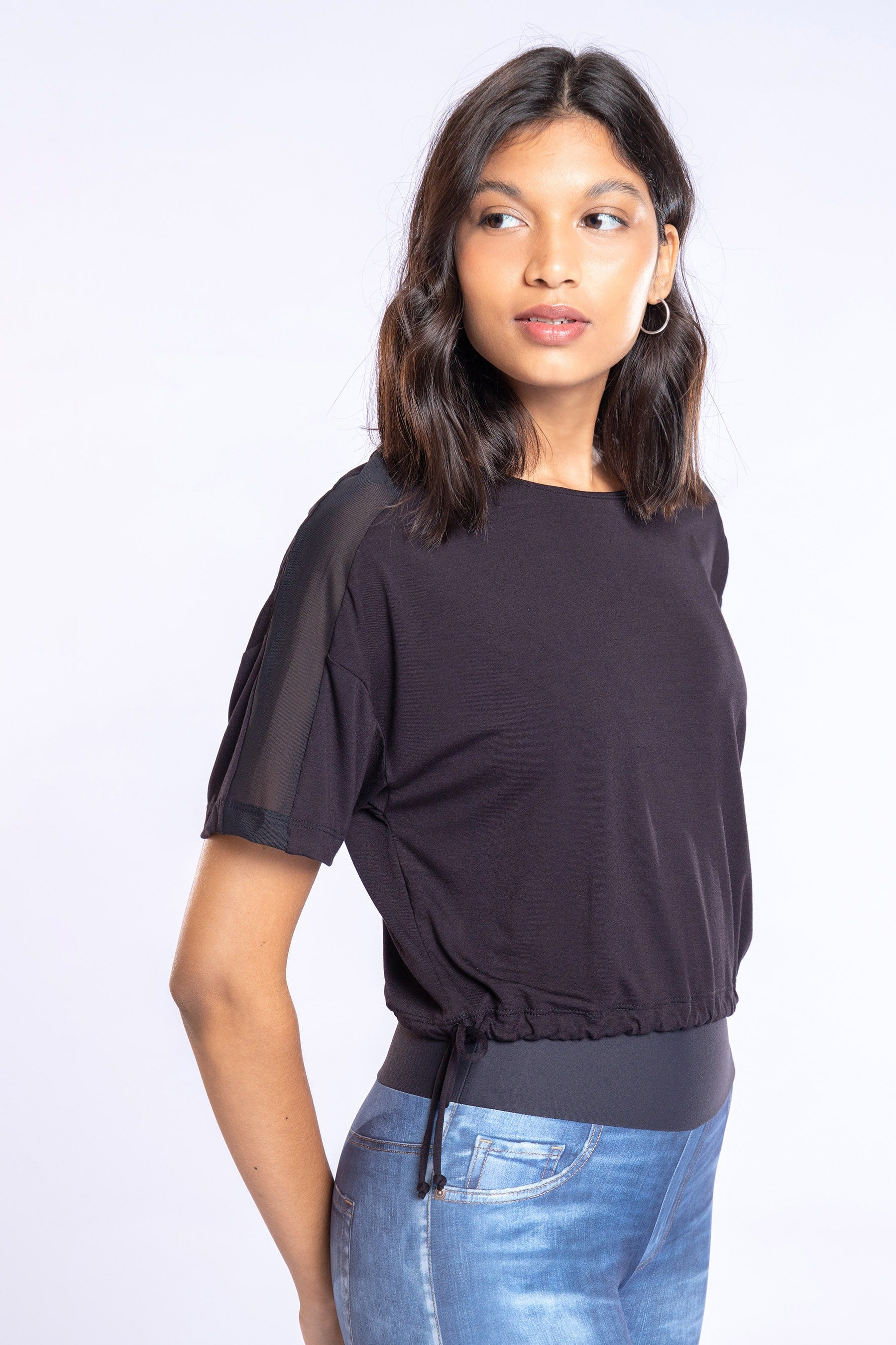 Duo Tie Cropped Blouse