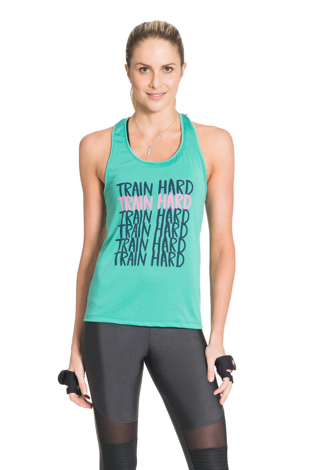 Glow Train Hard Racerback Tank