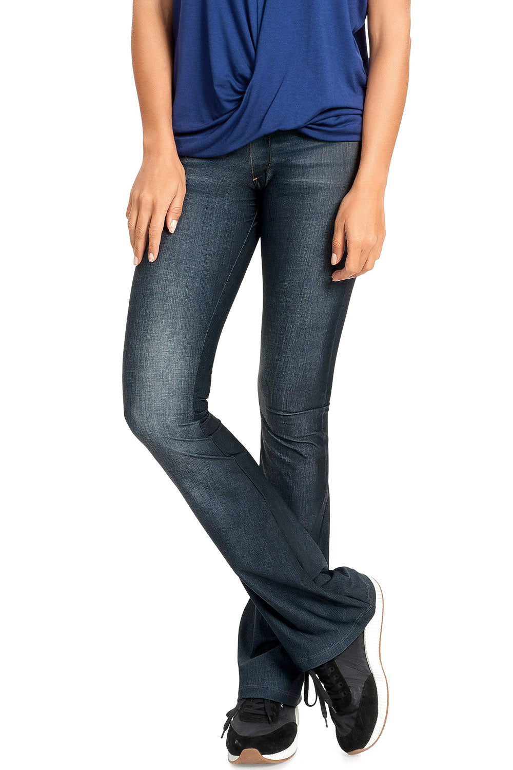 Casual Denim Flare Pants 1