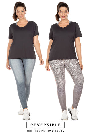 Animal Denim Reversible Tight (Plus Size)