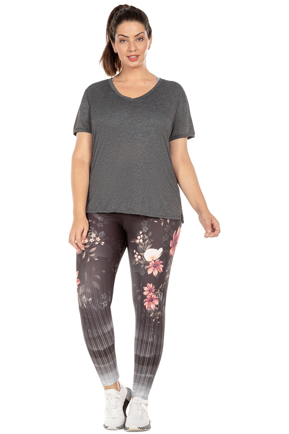 Floral View Tight (Plus Size)