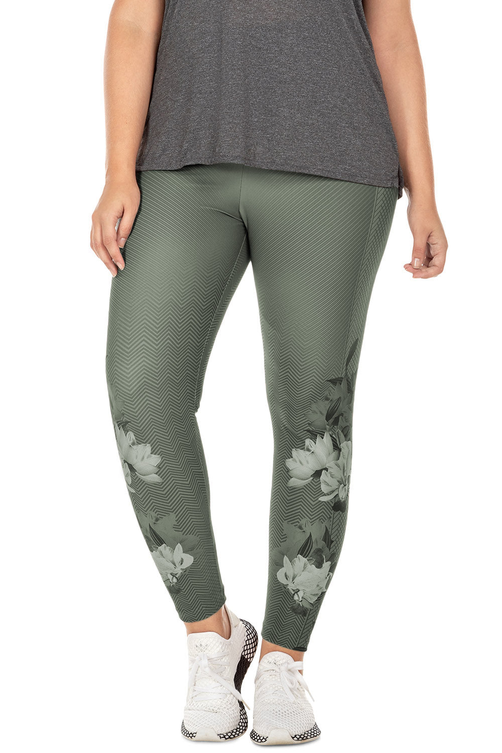 Floral View Legging (Plus Size) 1