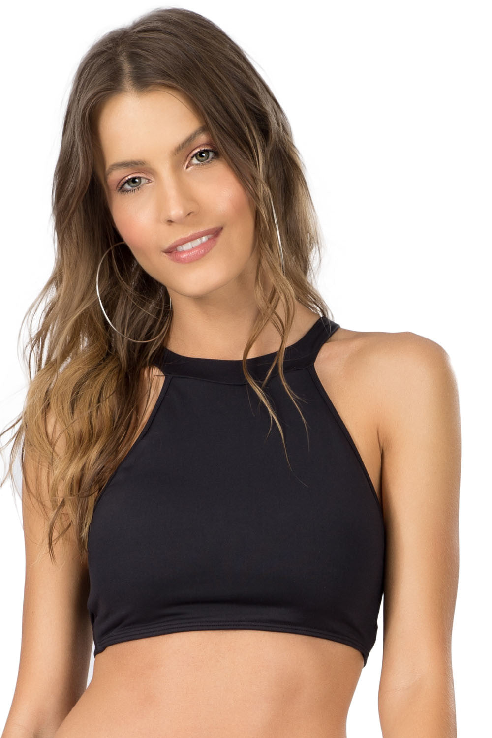 Black Tropicalia Top