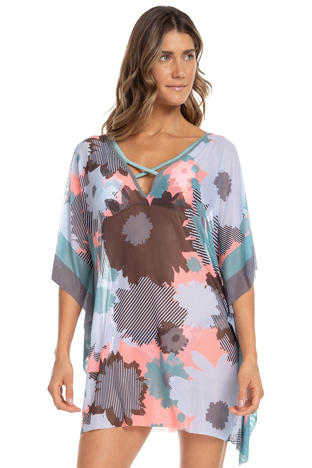Floral Artsy All In One Kaftan 1