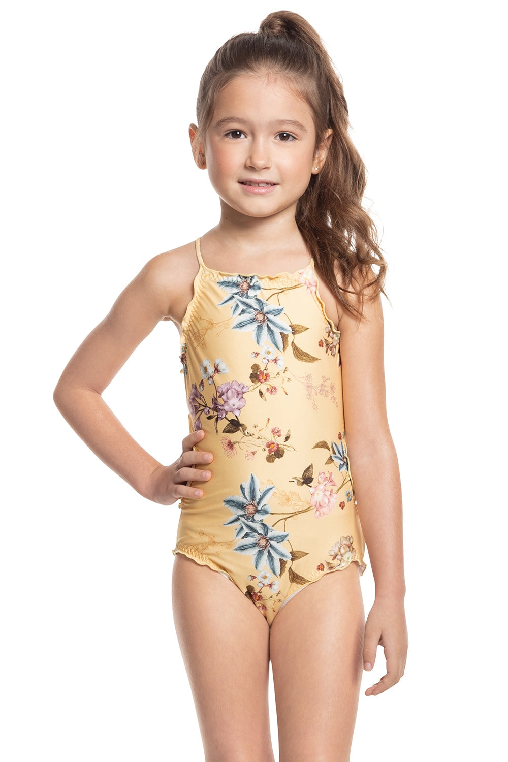 Floral Artsy Kids One Piece 1