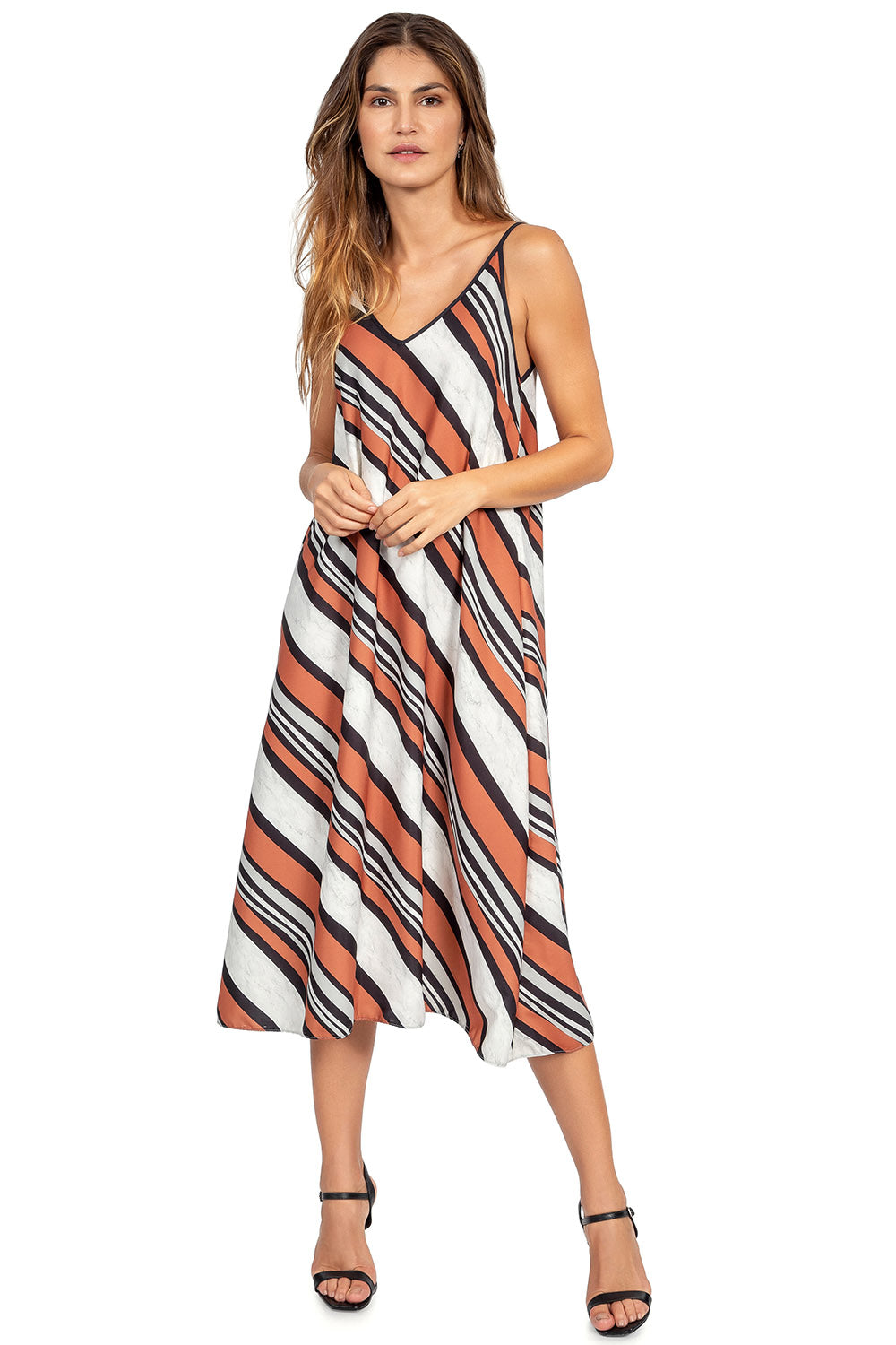 Intense Stripes Midi Dress