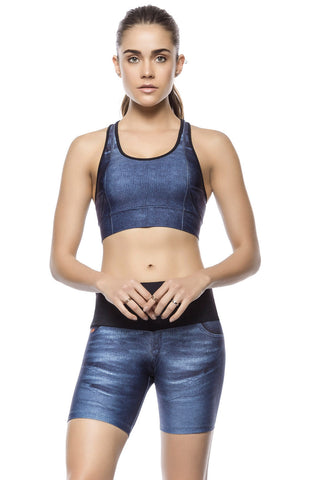 Athletic Jeans Sports Bra