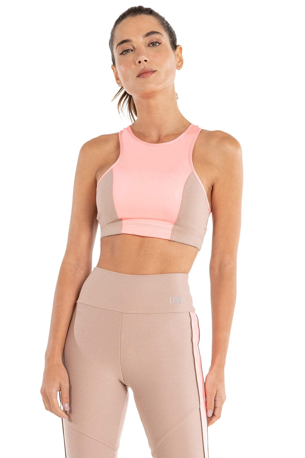 Color Block Halter Top 1