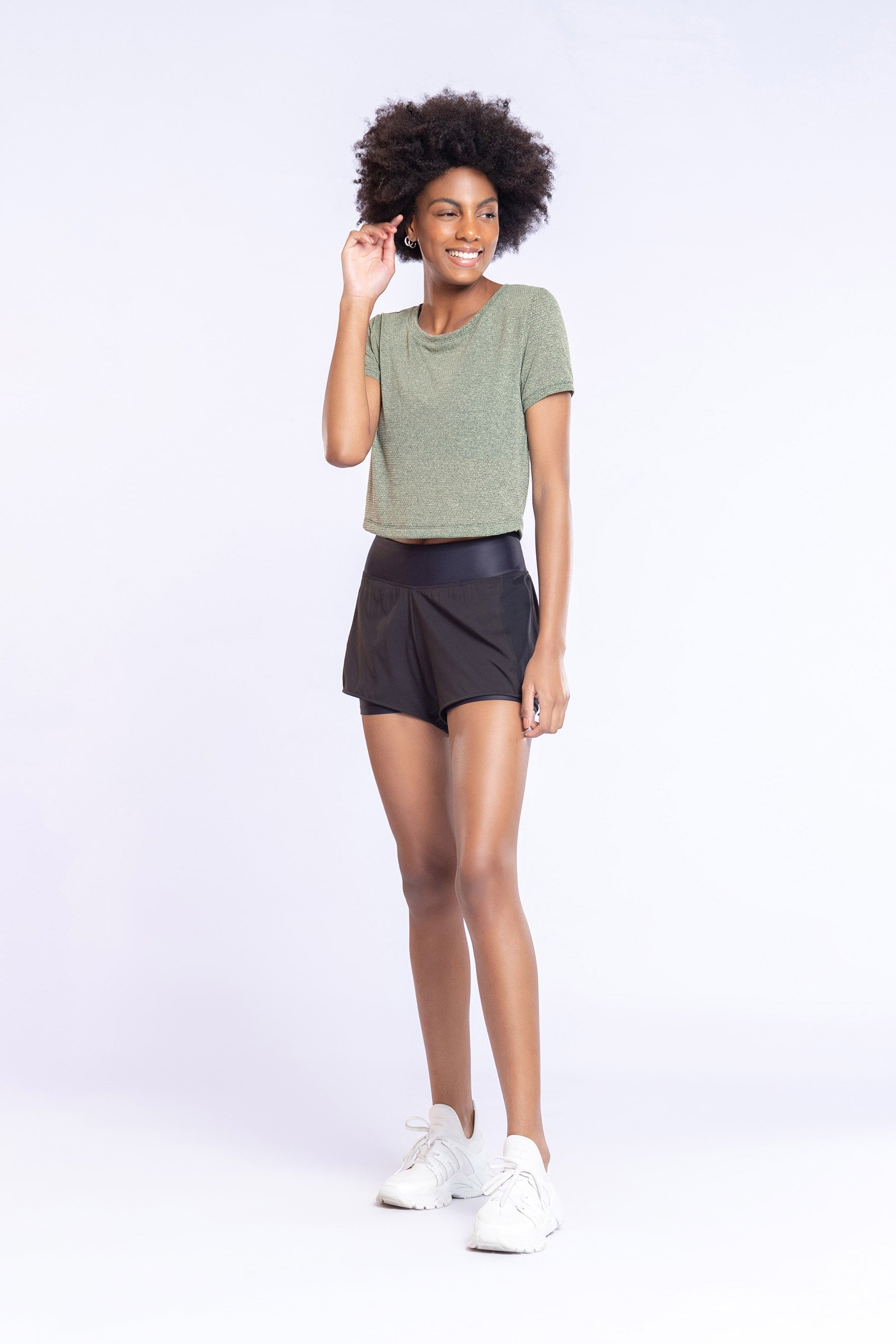 Air Tank Cropped Blouse 2