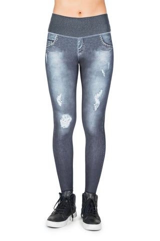 Reversible Dark Street Denim Legging