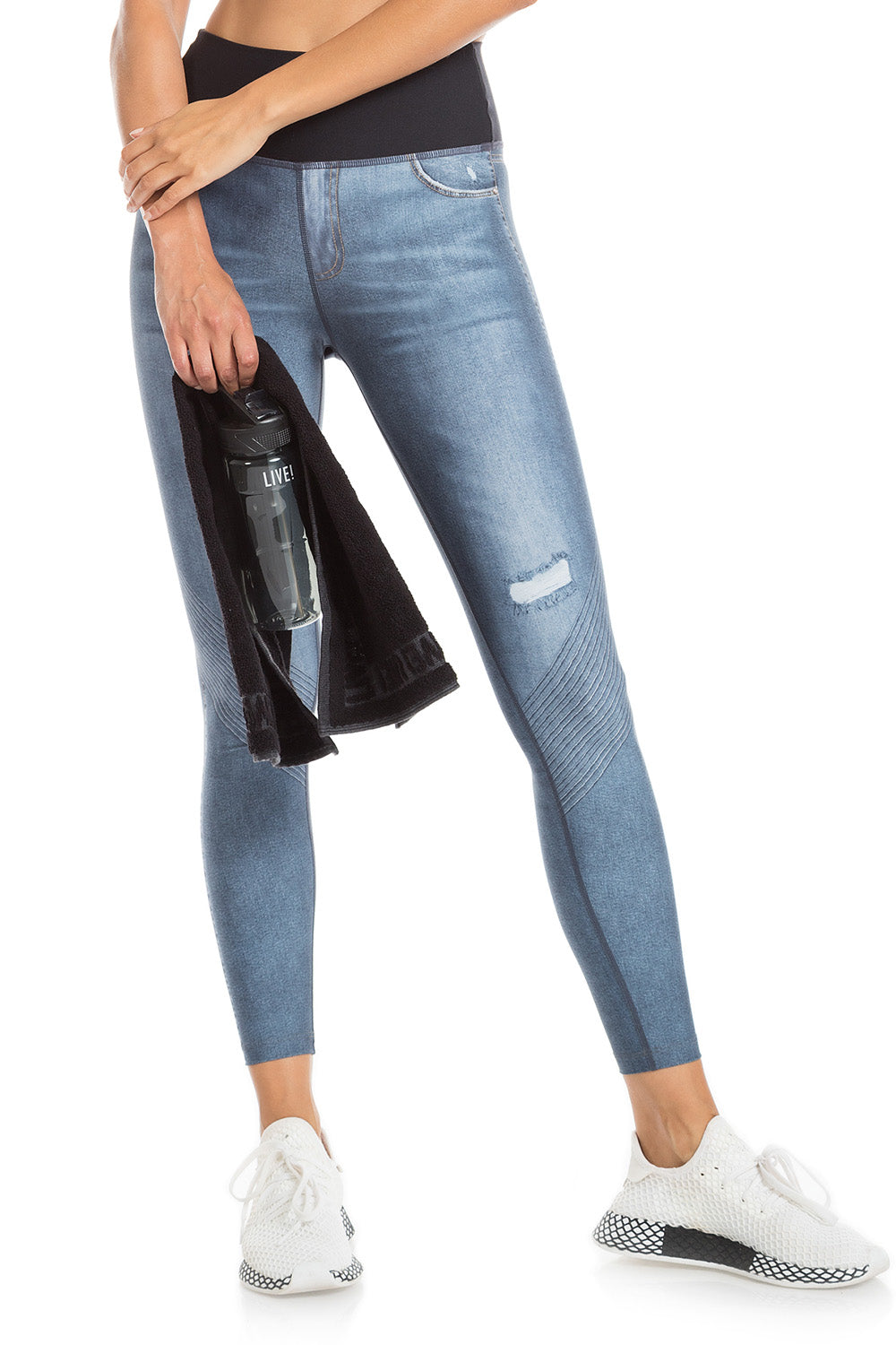Downtown Denim Reversible Legging