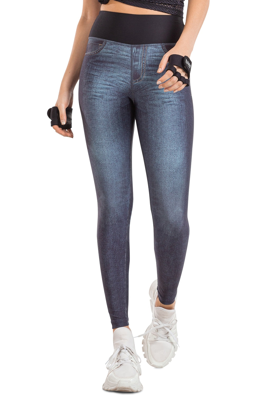 Fresh Lines Reversible Denim Legging 1
