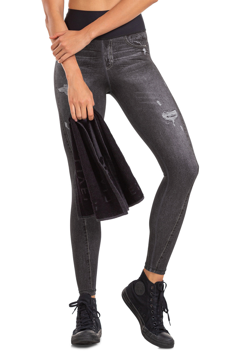 Stain Denim Reversible Legging 2