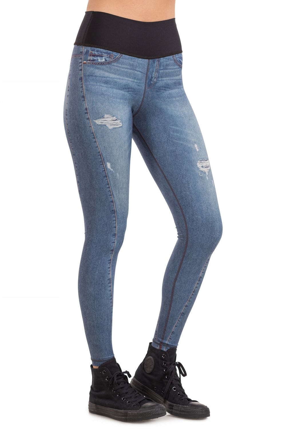 Stain Denim Reversible Tight