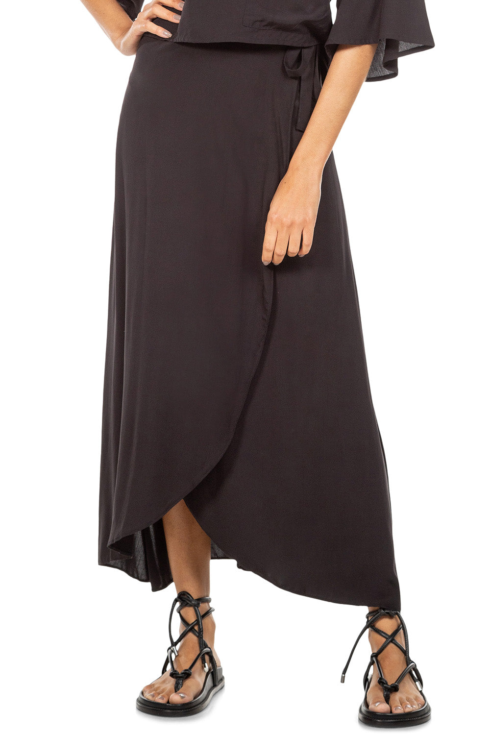 Sunset Midi Wrap Skirt