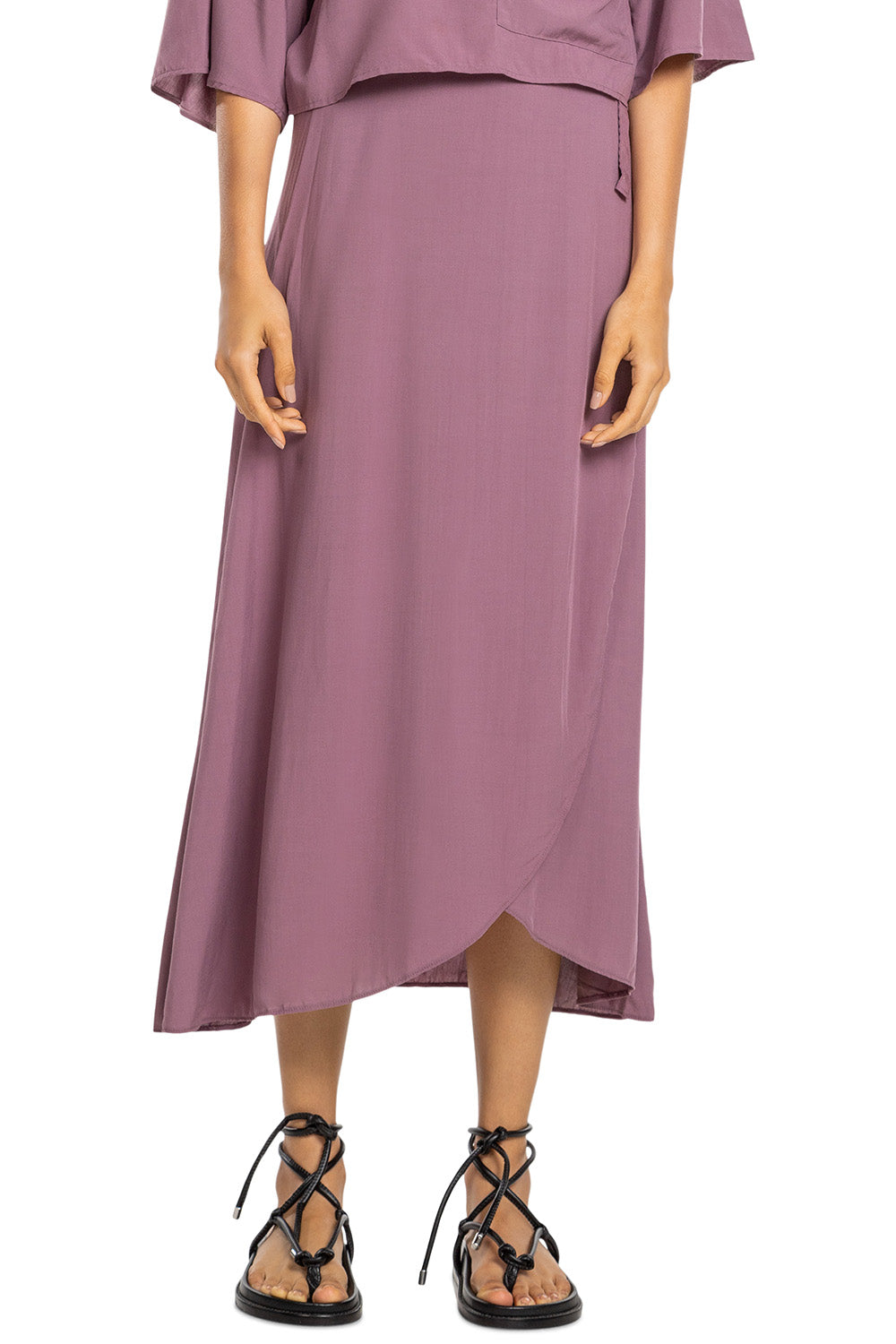 Sunset Midi Wrap Skirt 1