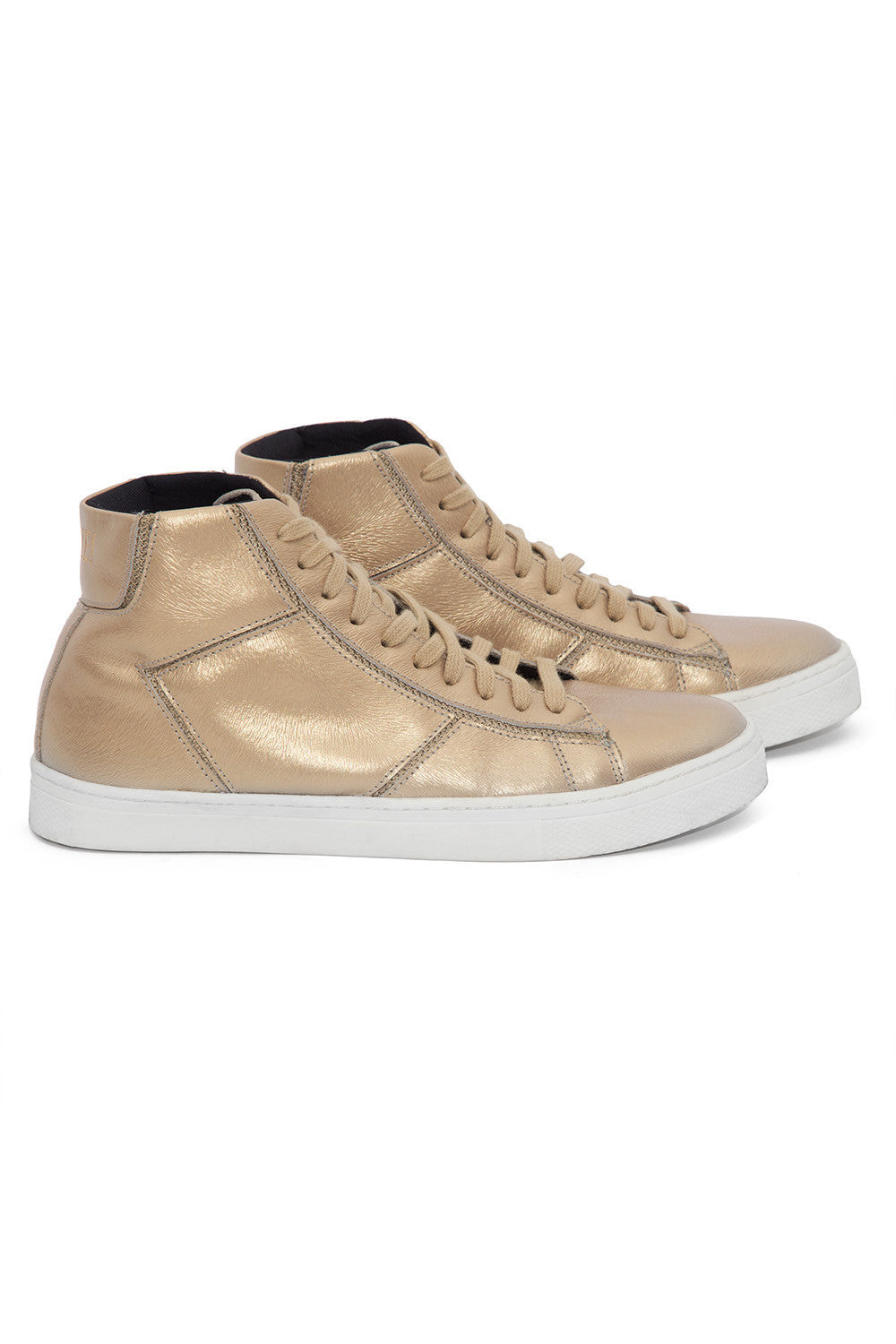 Metallic Bright Gold Sneakers 1