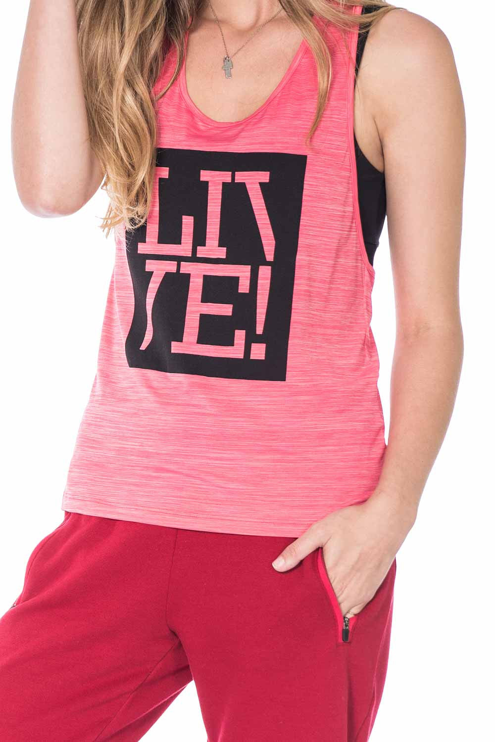 Energy Gym T-Back Tank Top