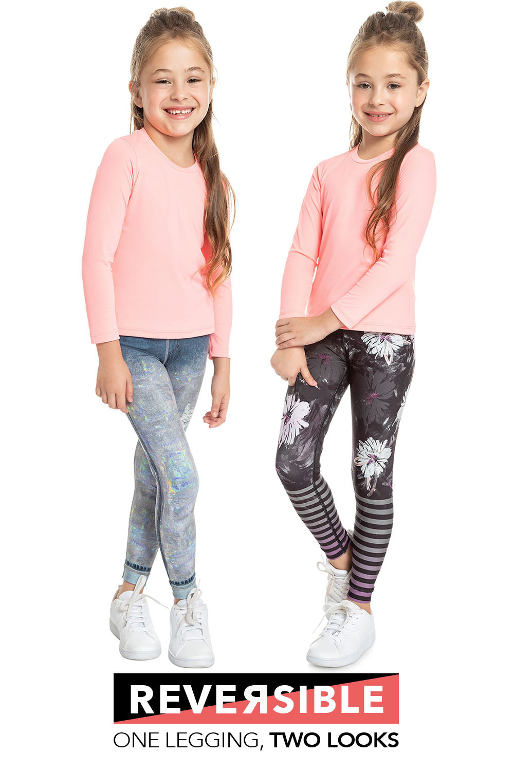 Lux Reversible Denim Kids Legging 1