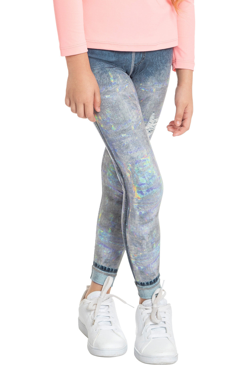 Lux Reversible Denim Kids Legging 2