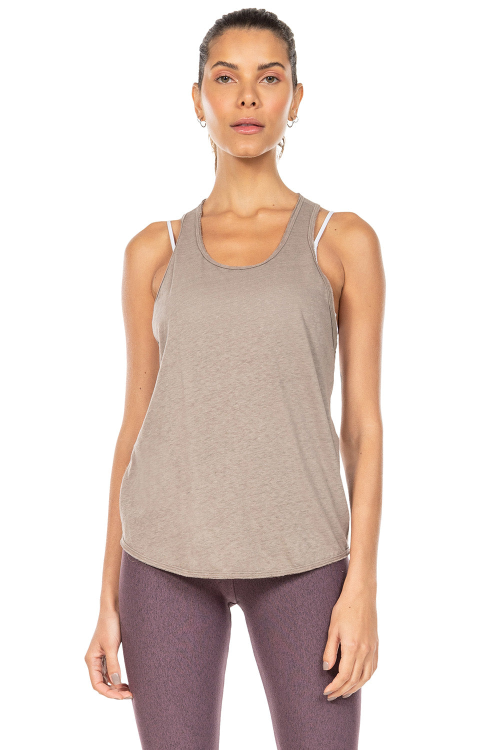 Natural Eco Twist Racer Tank 1