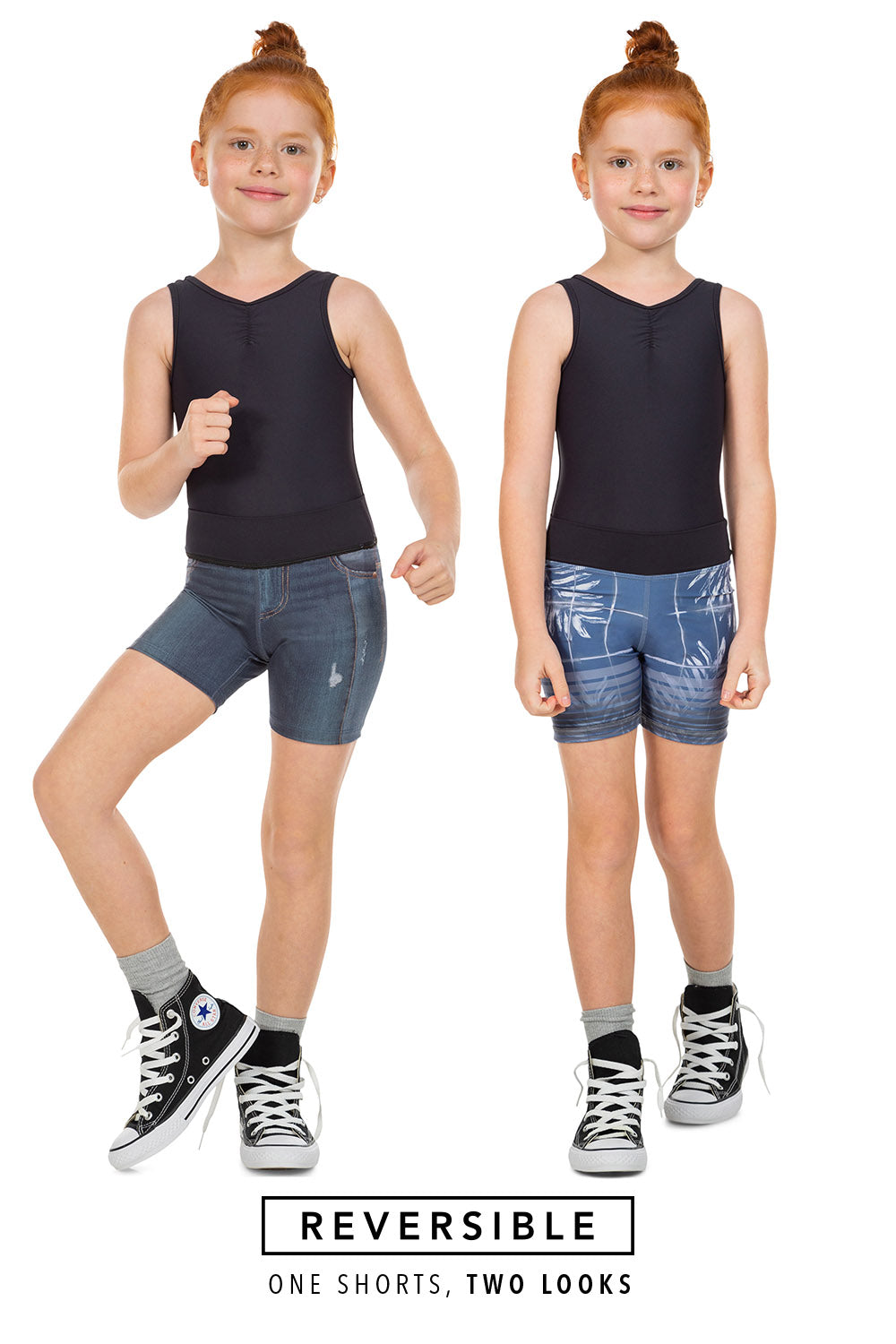 Jurere Kids Denim Rever Shorts 1
