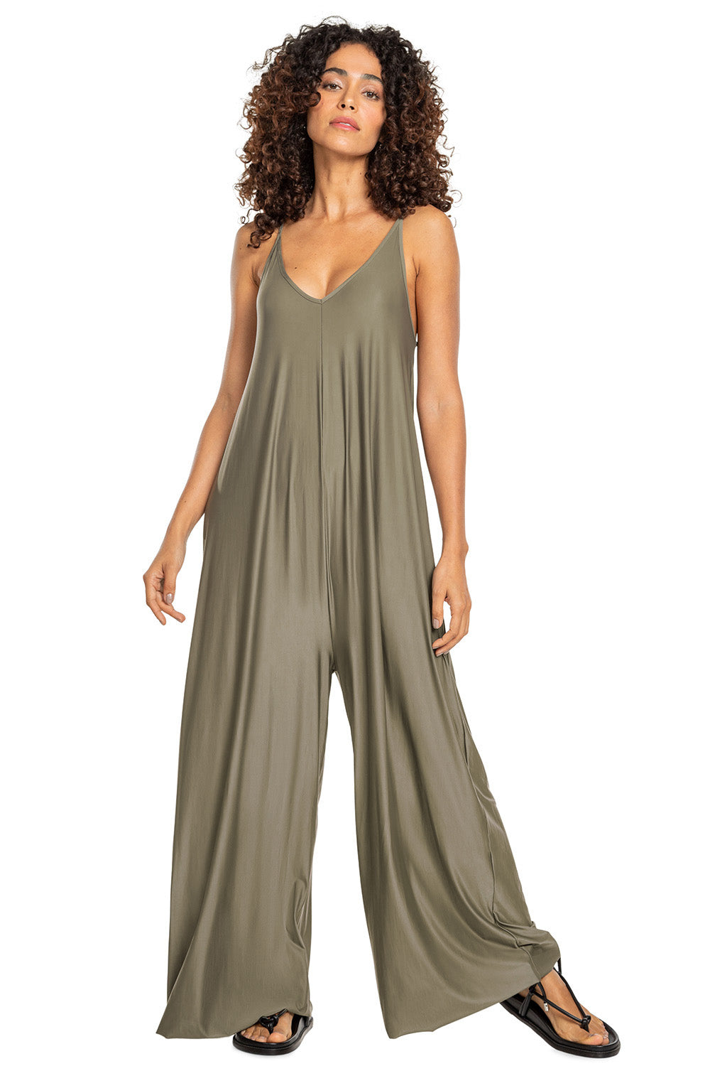 Deep V Jumpsuit 1