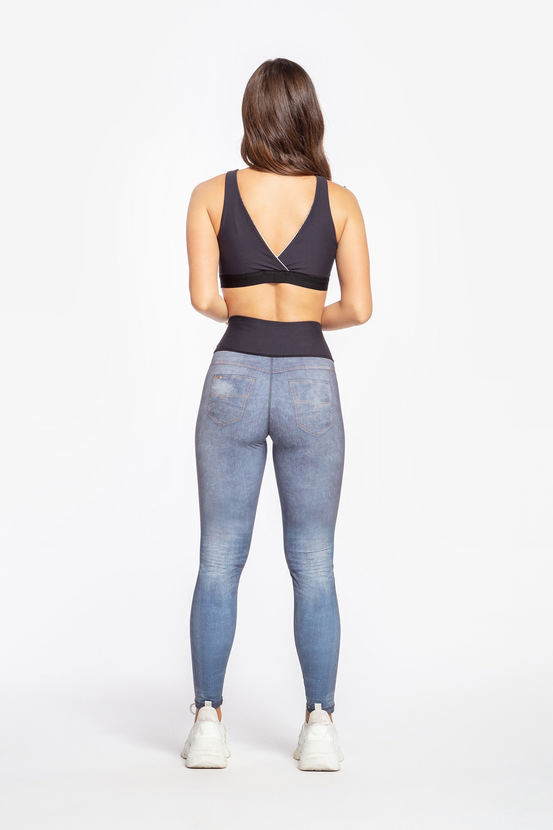 Mix Denim Reversible Legging