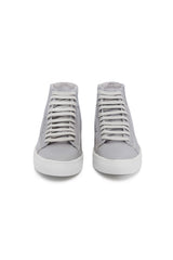 Metallic Bright Silver Sneakers