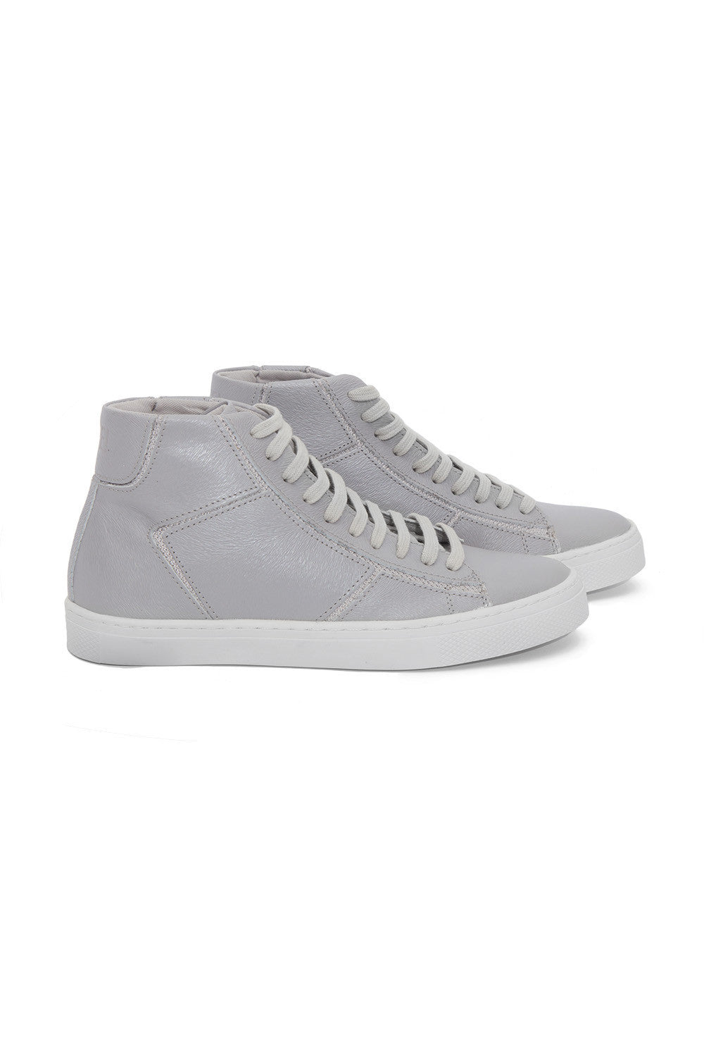 Metallic Bright Silver Sneakers 1