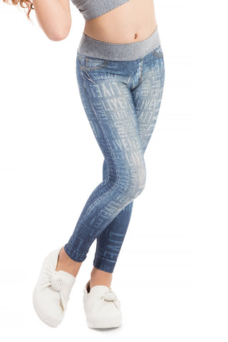 Denim Effect Kids Legging