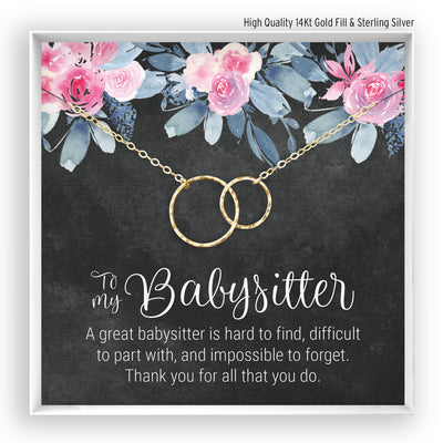Babysitter <br> Linked Circles Necklace - Bella and Blush