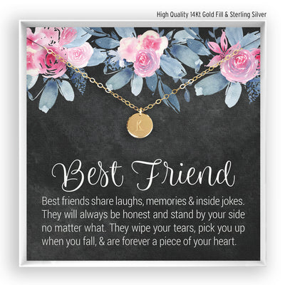 Best Friend <br> Engraved Disc Necklace - Bella and Blush