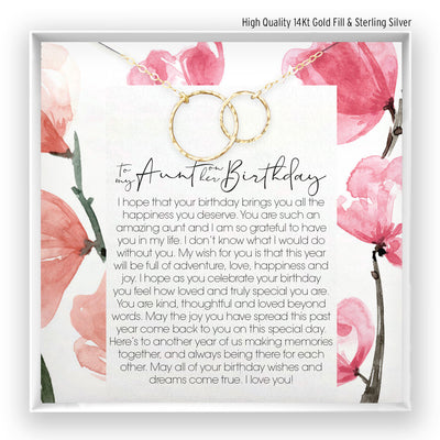 Aunt Birthday <br> Linked Circles Necklace - Bella and Blush