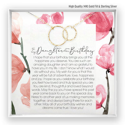 Daughter Birthday <br> Linked Circles Necklace - Bella and Blush