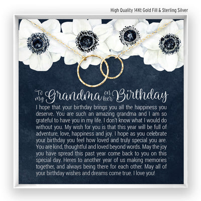 Grandma Birthday <br> Linked Circles Necklace - Bella and Blush