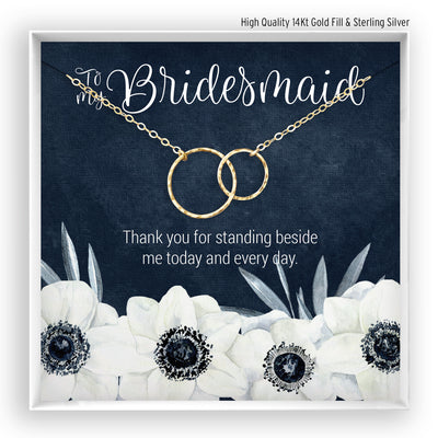 Bridesmaid <br> Linked Circles Necklace - Bella and Blush