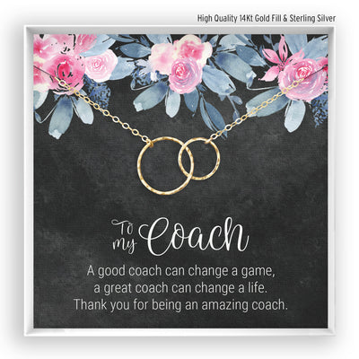 Coach <br> Linked Circles Necklace - Bella and Blush