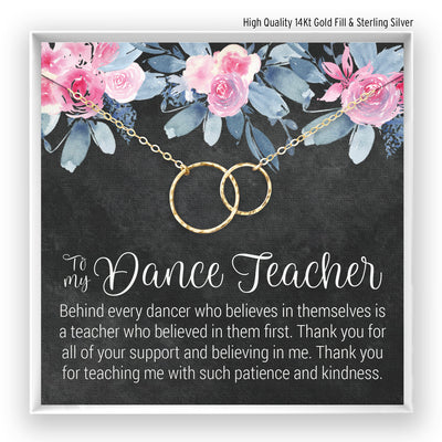 Dance Teacher br> Linked Circles Necklace - Bella and Blush