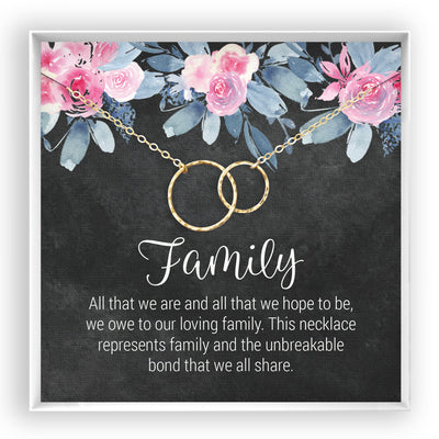 Family <br> Linked Circles Necklace - Bella and Blush