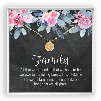 Family <br> Engraved Disc Necklace - Bella and Blush