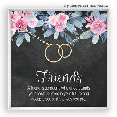 Friends <br> Linked Circles Necklace - Bella and Blush