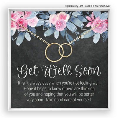 Get Well Soon <br> Linked Circles Necklace - Bella and Blush