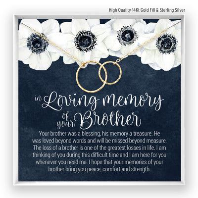 Brother Memory <br> Linked Circles Necklace - Bella and Blush