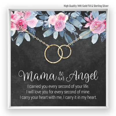 Mama to an Angel <br> Linked Circles Necklace - Bella and Blush