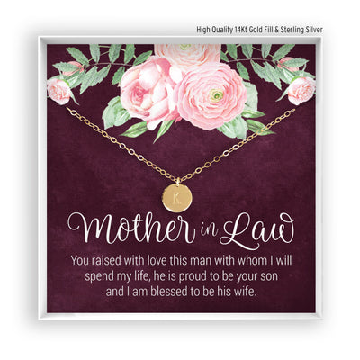 Mother of the Bride <br> Engraved Disc Necklace - Bella and Blush