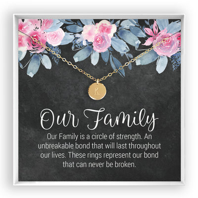 Our Family <br> Engraved Disc Necklace - Bella and Blush